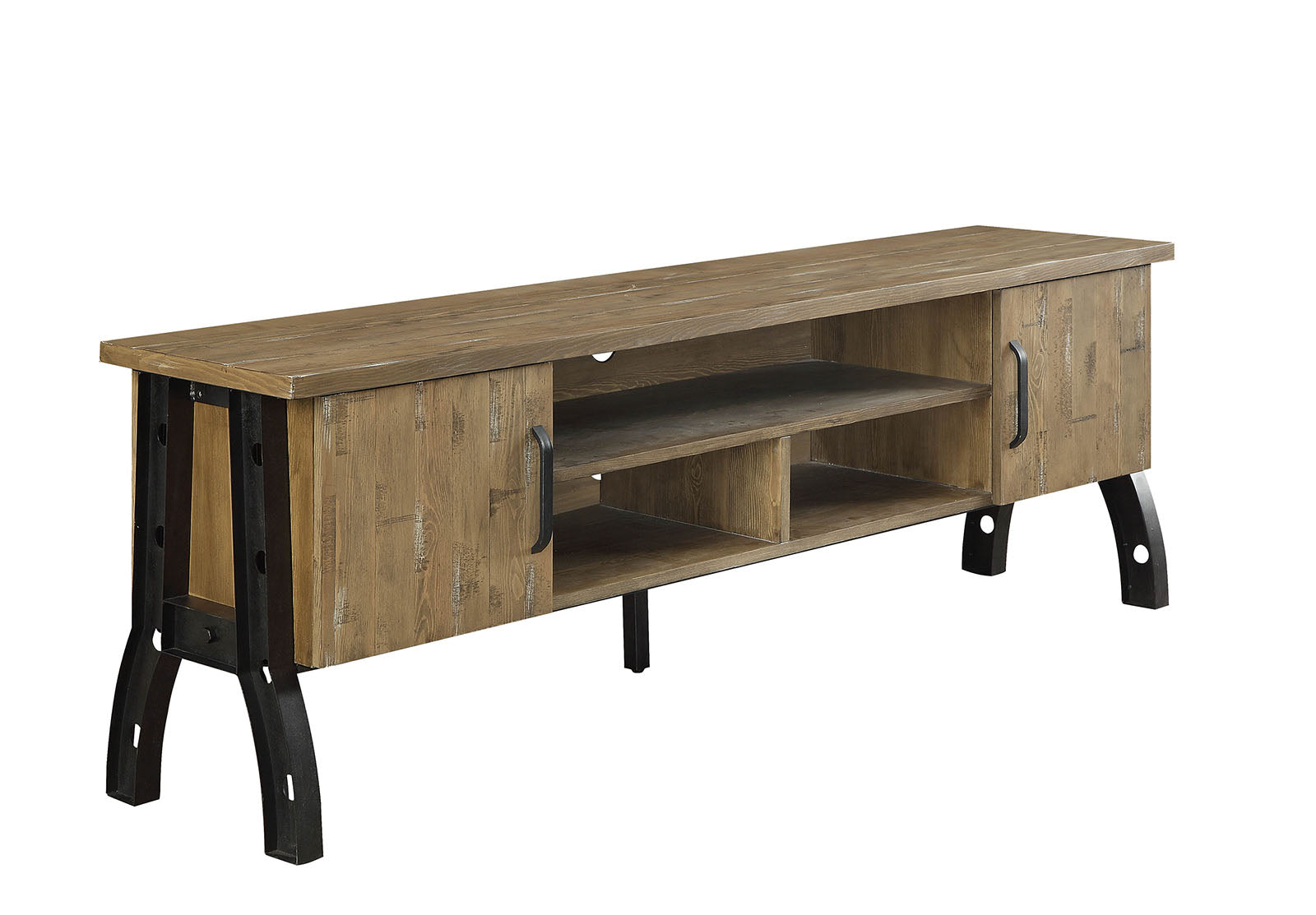 "THORNTON 72"" INDUSTRIAL TV STAND WITH BEAM ACCENTS"