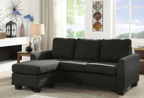 PETRA GRAY FABRIC SECTIONAL W/ CHAISE
