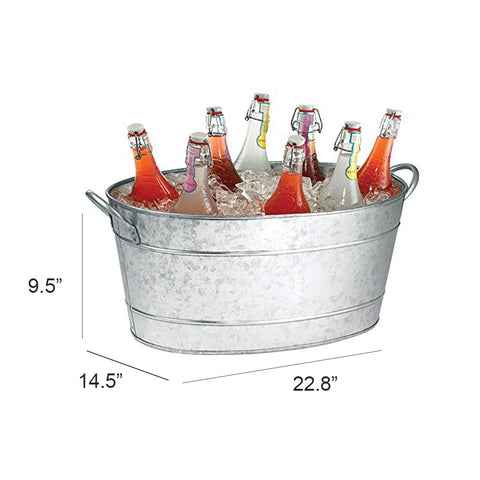 Jayce Rustic Galvanized Beverage Tub
