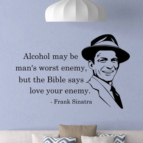 FRANK SINATRA QUOTE WALL DECAL
