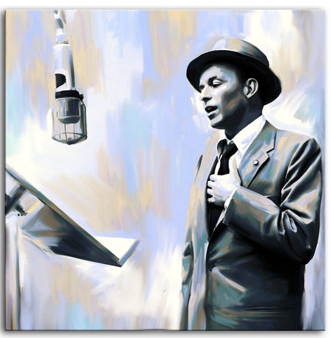 FRANK SINATRA OIL PAINTED FABRIC POSTER