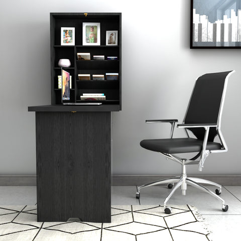 WALL MOUNTED FOLD-OUT CONVERTIBLE FLOATING DESK WRITING TABLE
