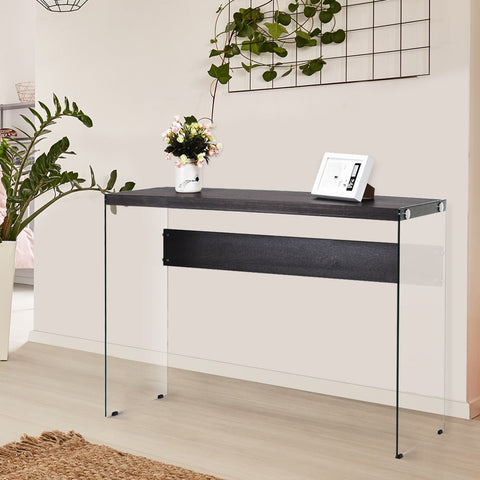 MANHATTAN CONTEMPORARY GLASS CONSOLE TABLE