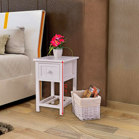 WOODEN MINI 2-LAYER BEDSIDE END TABLE