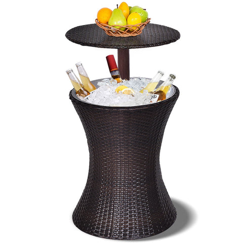AKEMBE OUTDOOR FAUX RATTAN ICE COOLER