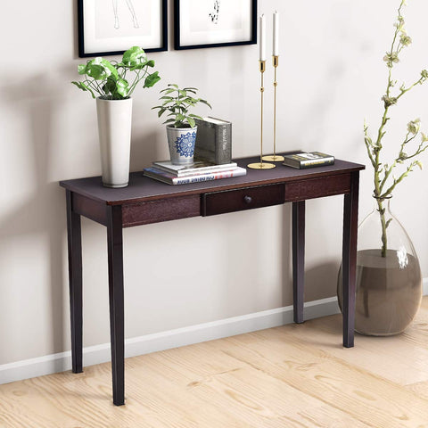 WOOD ENTRYWAY SIDE SOFA ACCENT CONSOLE TABLE