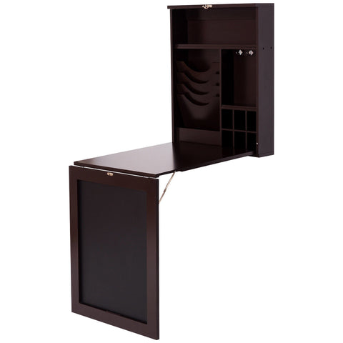 SPACE SAVER CONVERTIBLE WALL MOUNTED DESK-COFFEE