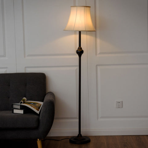 TANJE BRONZE FINISH FLOOR LAMP WITH LED BULB