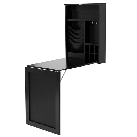 SPACE SAVER CONVERTIBLE WALL MOUNTED DESK-BLACK