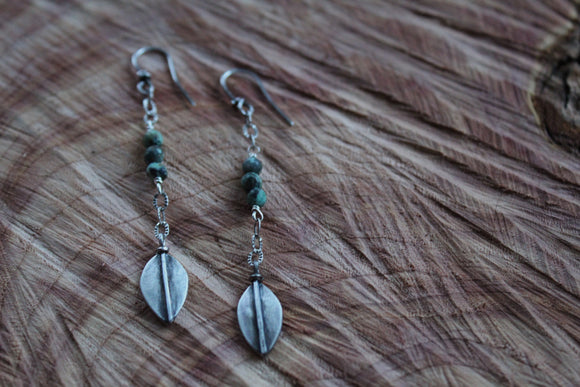 Delicate Leaf Long  Earrings