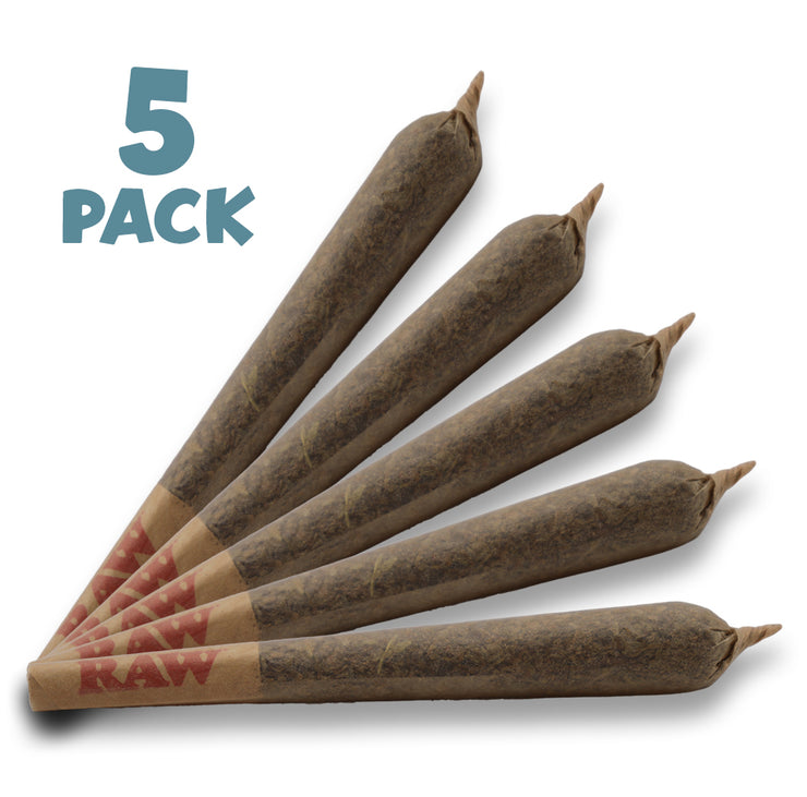 RealPure™ Inhalable Mini-Rolls | Pre-rolled CBD Hemp Cones - 5 Pack, Girl Scout Cookies