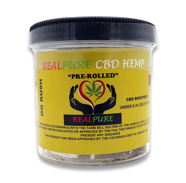 RealPure™ Inhalable Mini-Rolls | Pre-rolled CBD Hemp Cones - 5 Pack, OG Kush