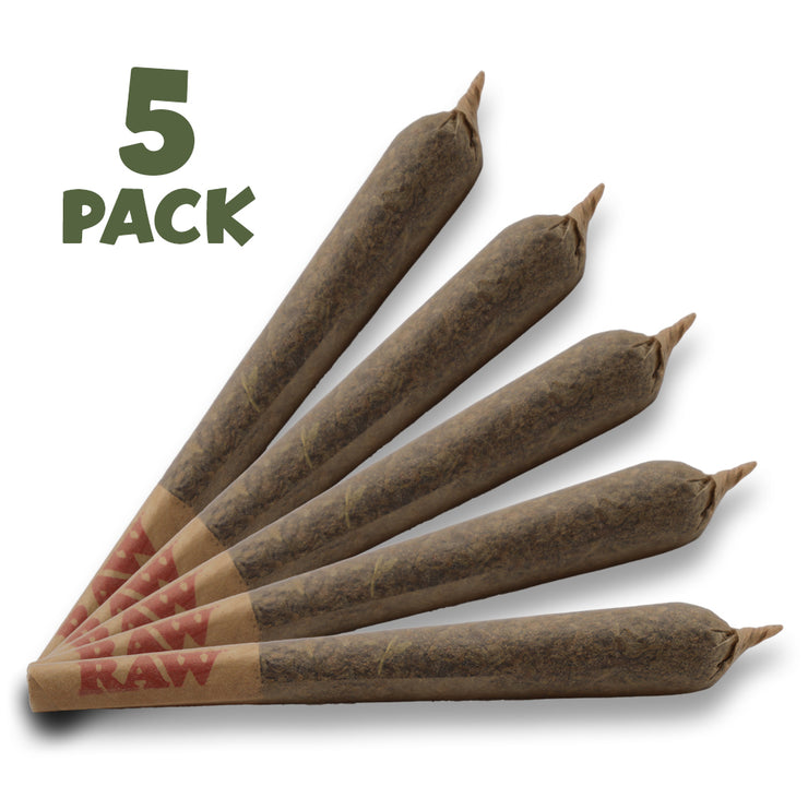 RealPure™ Inhalable Mini-Rolls | Pre-rolled CBD Hemp Cones - 5 Pack, Organic Original