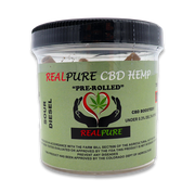RealPure™ Inhalable Mini-Rolls | Pre-rolled CBD Hemp Cones - 5 Pack, Sour Diesel