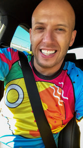 Skydiving Colorful Jersey Fire On