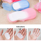 20pcs / box Portable  Mini Soap Paper