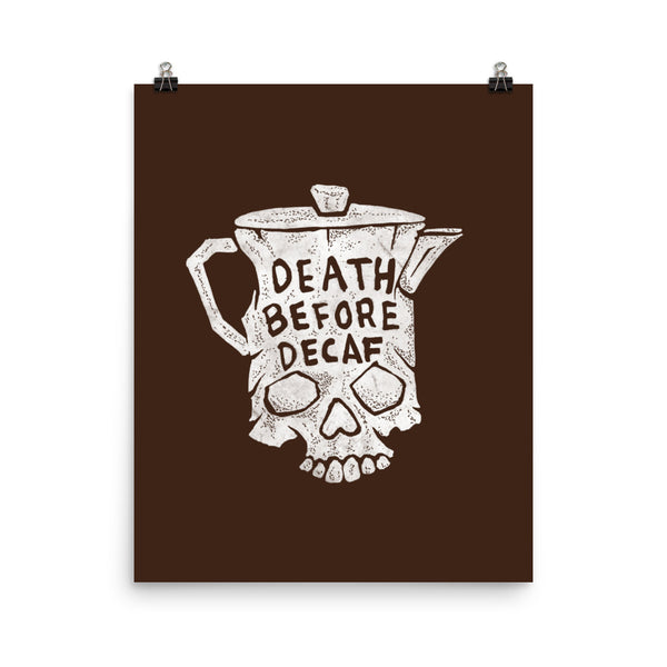Death before decaf - poster