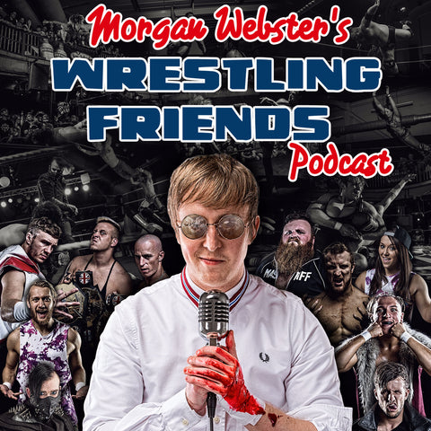 Flash Morgan Webster Wrestling Friends podcast logo