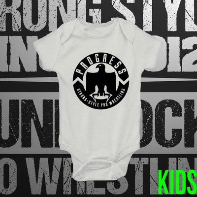 PROGRESS Wrestling:  White Babygrow - Pins & Knuckles Wrestling Merch United Kingdom
