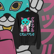 Grapple:  Lucky Cat Version 1 Sweater - Pins & Knuckles Wrestling Merch United Kingdom
