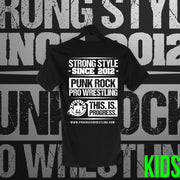 PROGRESS Wrestling:  Classic Logo Black Tee - Pins & Knuckles Wrestling Merch United Kingdom