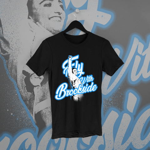 Xia Brookside: Fly With Brookside Tee - Pins & Knuckles Wrestling Merch United Kingdom