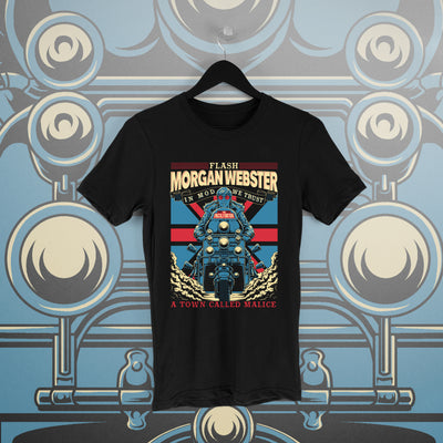 Flash Morgan: A Town Called Malice Black Tee - Pins & Knuckles Wrestling Merch United Kingdom
