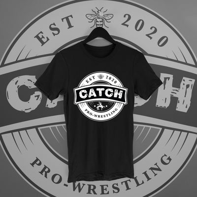 CATCH Pro-Wrestling: New Logo Tee - Pins & Knuckles Wrestling Merch United Kingdom