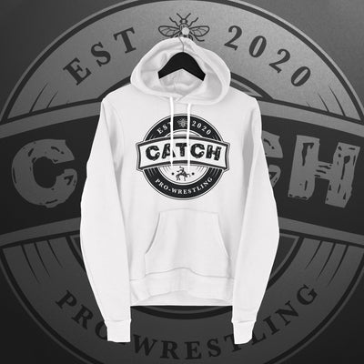 CATCH Pro-Wrestling: New Logo Hoodie (white) - Pins & Knuckles Wrestling Merch United Kingdom