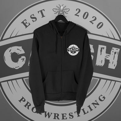 CATCH Pro-Wrestling: New Logo Zip Hoodie - Pins & Knuckles Wrestling Merch United Kingdom