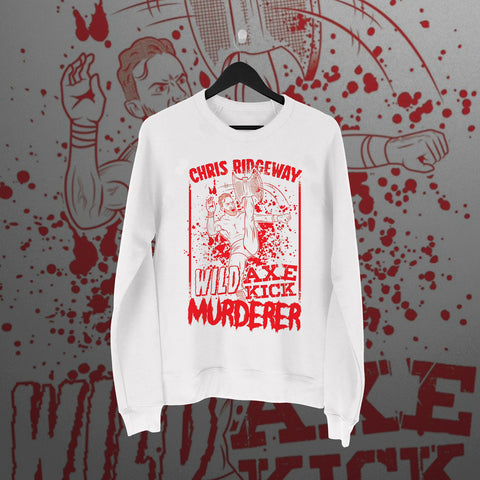 Chris Ridgeway: Wild Axe Kick Murderer White Sweater