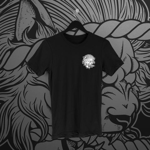 Fighting Spirit Pro: Emblem Black Tee - Pins & Knuckles Wrestling Merch United Kingdom
