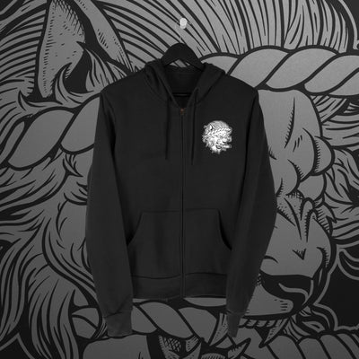 Fighting Spirit Pro Emblem Zip Hoodie - Pins & Knuckles Wrestling Merch United Kingdom