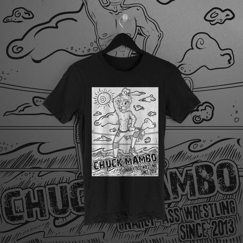 Chuck Mambo: Gnarly-Ass Wrestling Black Tee
