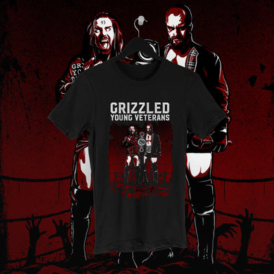 James Drake: Grizzled Tee - Pins & Knuckles Wrestling Merch United Kingdom