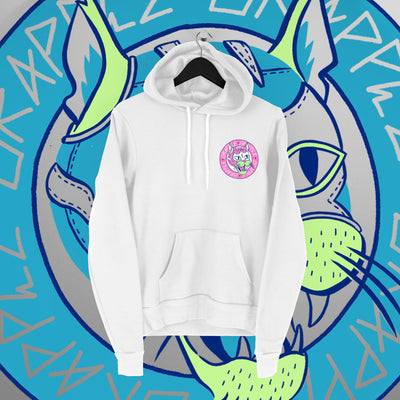 Grapple: GrappleCat White Hoodie - Pins & Knuckles Wrestling Merch United Kingdom