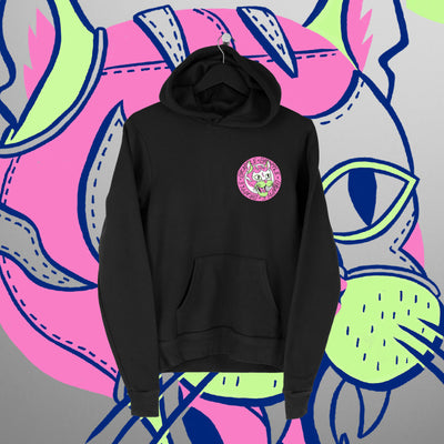 Grapple: GrappleCat Black Hoodie - Pins & Knuckles Wrestling Merch United Kingdom