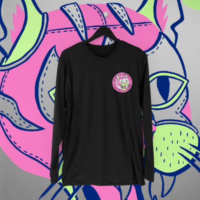 Grapple: GrappleCat Black Longsleeve - Pins & Knuckles Wrestling Merch United Kingdom