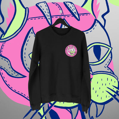 Grapple: GrappleCat Black Sweatershirt - Pins & Knuckles Wrestling Merch United Kingdom