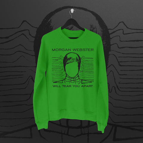 Flash Morgan: Tear You Apart Green Sweatshirt - Pins & Knuckles Wrestling Merch United Kingdom