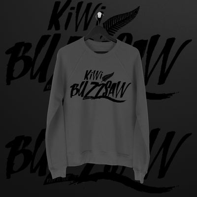 Travis Banks: Kiwi Buzzsaw Charcoal Sweater - Pins & Knuckles Wrestling Merch United Kingdom