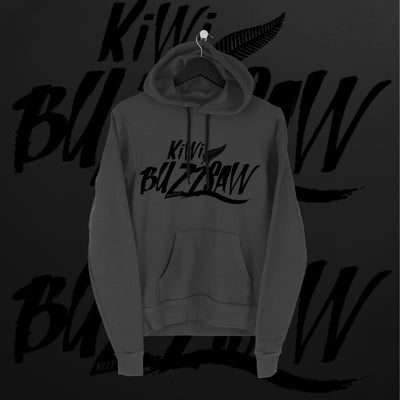 Travis Banks: Kiwi Buzzsaw Charcoal Hoodie - Pins & Knuckles Wrestling Merch United Kingdom