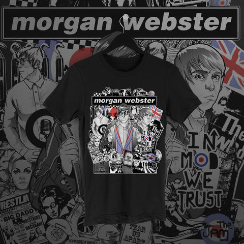 Flash Morgan: In Mod We Trust Black Tee - Pins & Knuckles Wrestling Merch United Kingdom