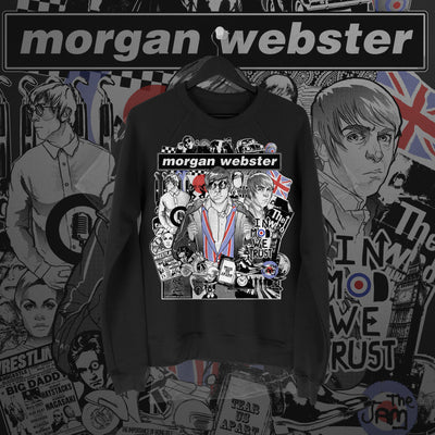 Flash Morgan: In Mod We Trust Black Sweatshirt - Pins & Knuckles Wrestling Merch United Kingdom