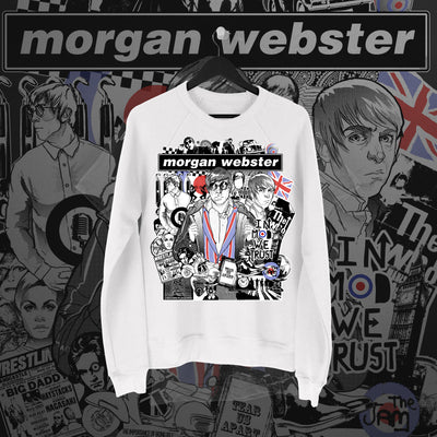 Flash Morgan: In Mod We Trust White Sweatshirt - Pins & Knuckles Wrestling Merch United Kingdom