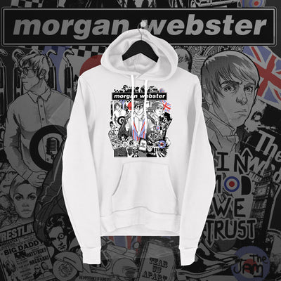 Flash Morgan: In Mod We Trust White Hoodie - Pins & Knuckles Wrestling Merch United Kingdom