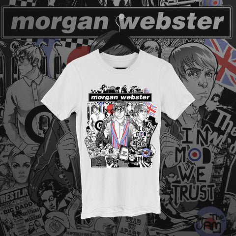 Flash Morgan: In Mod We Trust White Tee - Pins & Knuckles Wrestling Merch United Kingdom