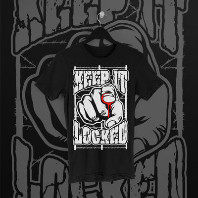 Simon Hill Locked Tee - Pins & Knuckles Wrestling Merch United Kingdom