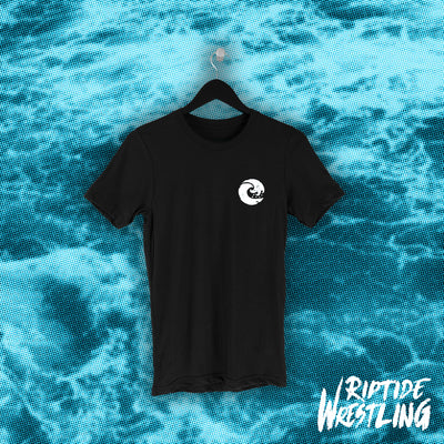 RIPTIDE Essentials Unisex Tee Black - Pins & Knuckles Wrestling Merch United Kingdom