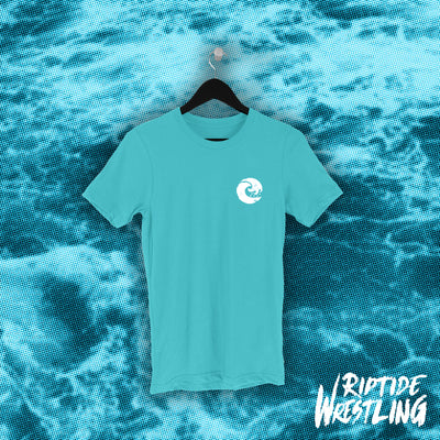 RIPTIDE Essentials Unisex Tee Teal - Pins & Knuckles Wrestling Merch United Kingdom
